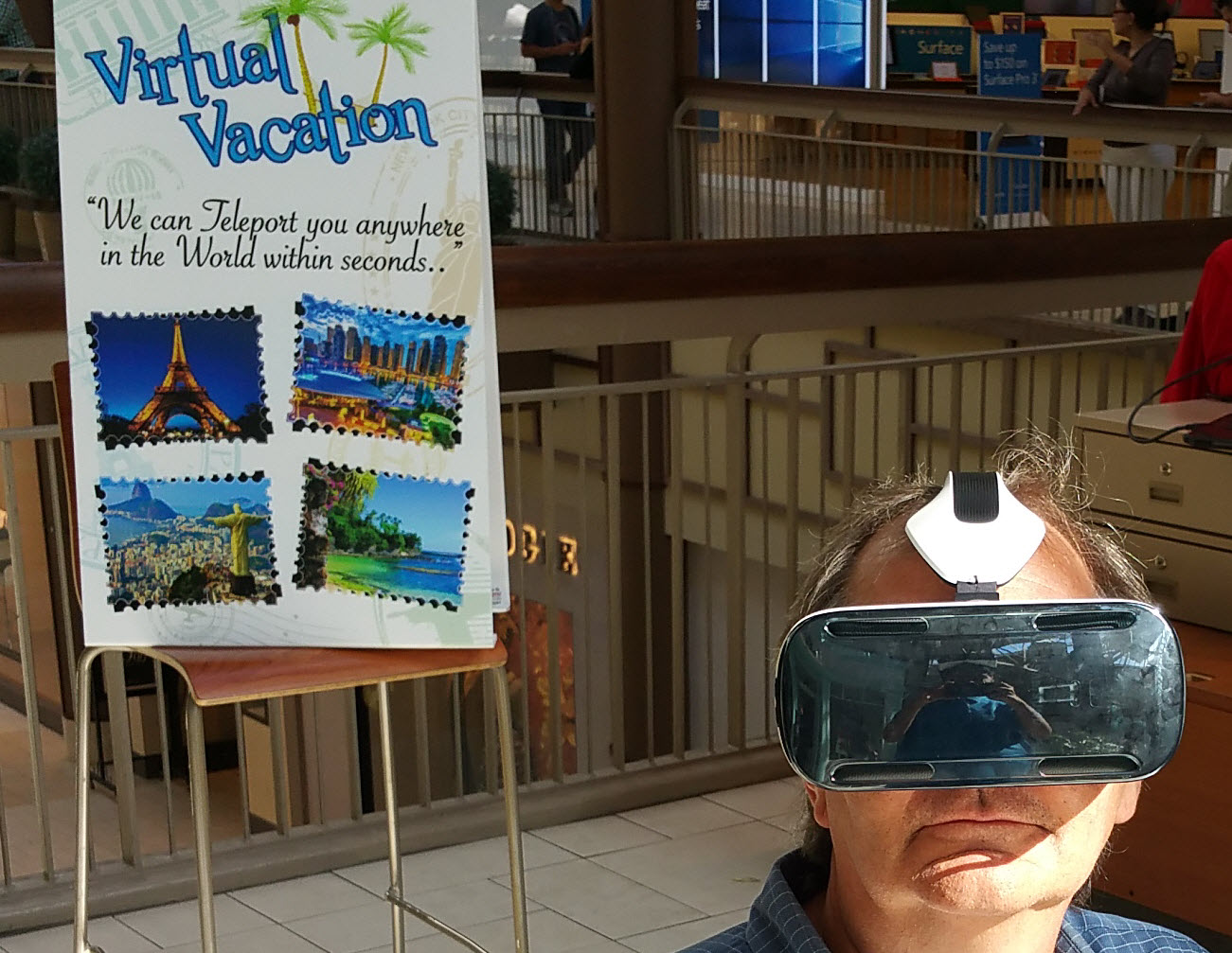 Insights from taking a virtual safari on a folding chair at the mall